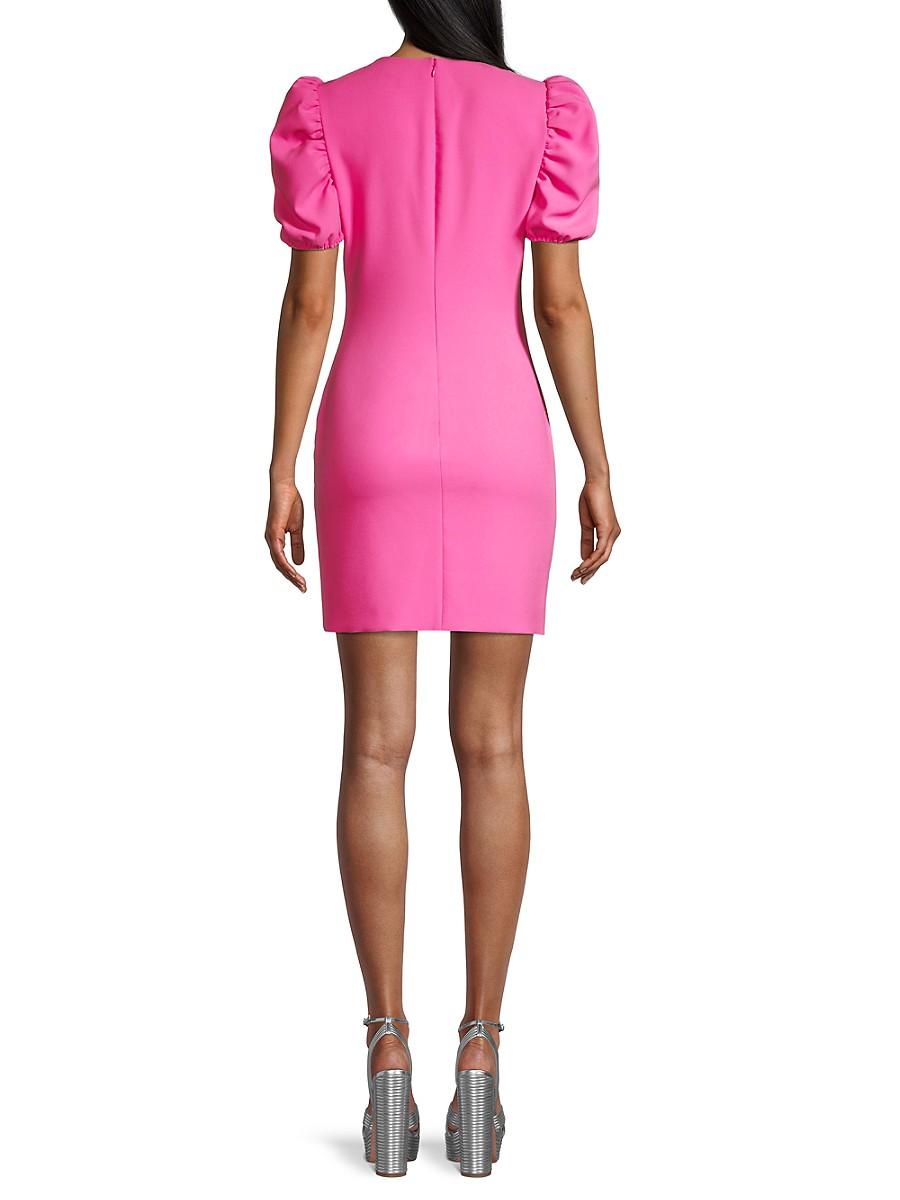 LIKELY Mini dresses WOMEN'S MALTA PUFF-SLEEVE RUFFLE SHEATH DRESS