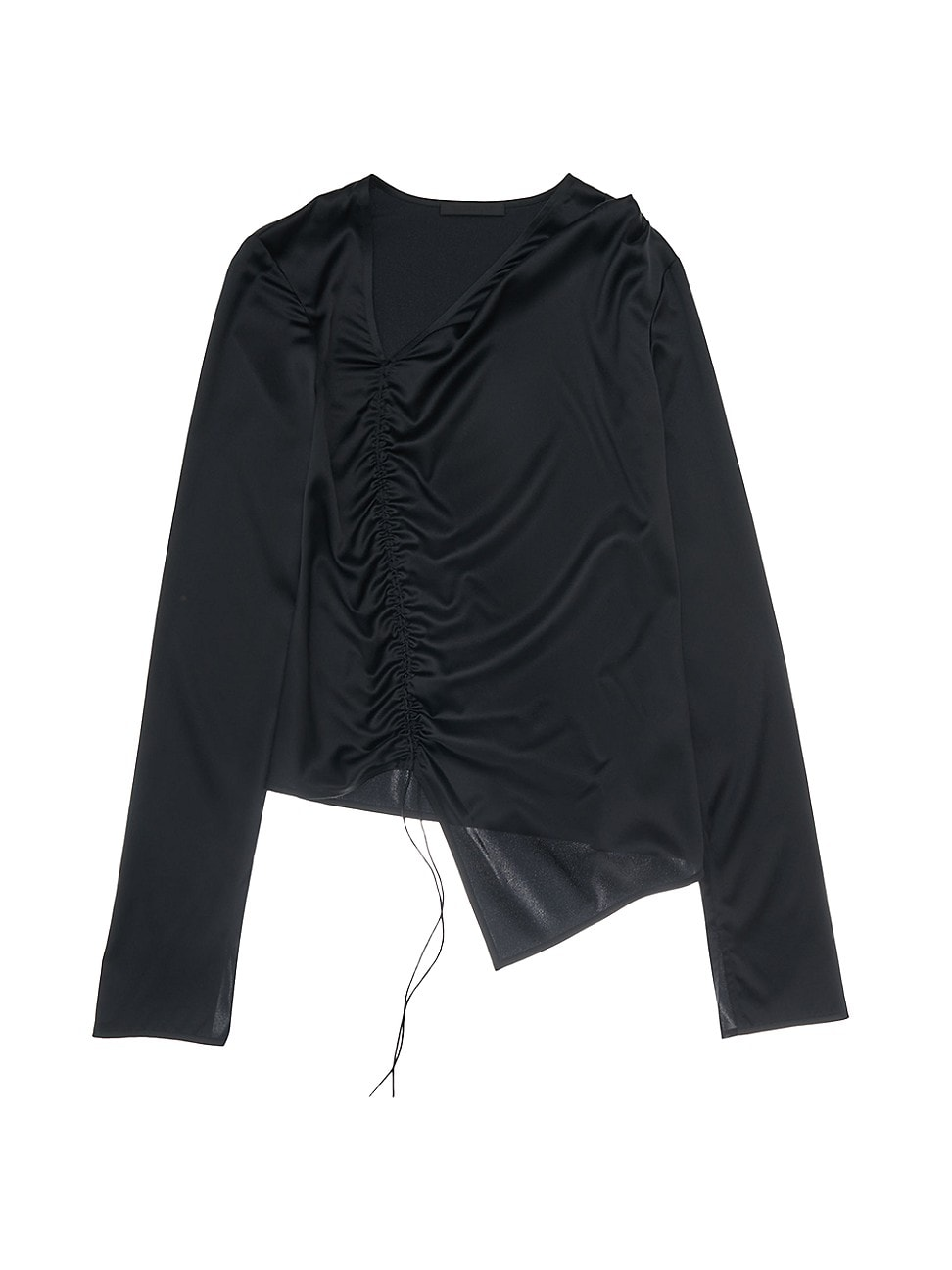 Helmut Lang WOMEN'S RUCHED SILK-BLEND TOP