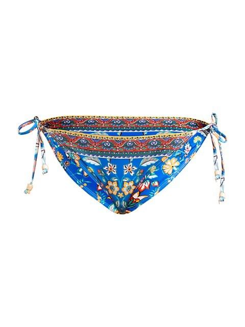 Floral Print Triangle Bikini Bottom