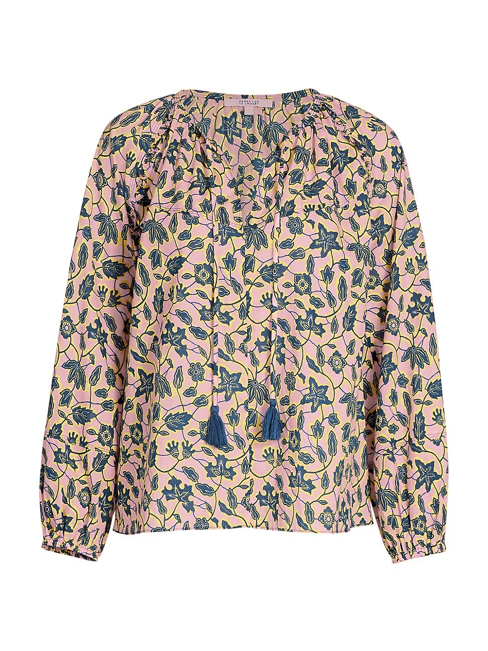Derek Lam 10 Crosby WOMEN'S DEVON FLORAL LONG-SLEEVE BLOUSE