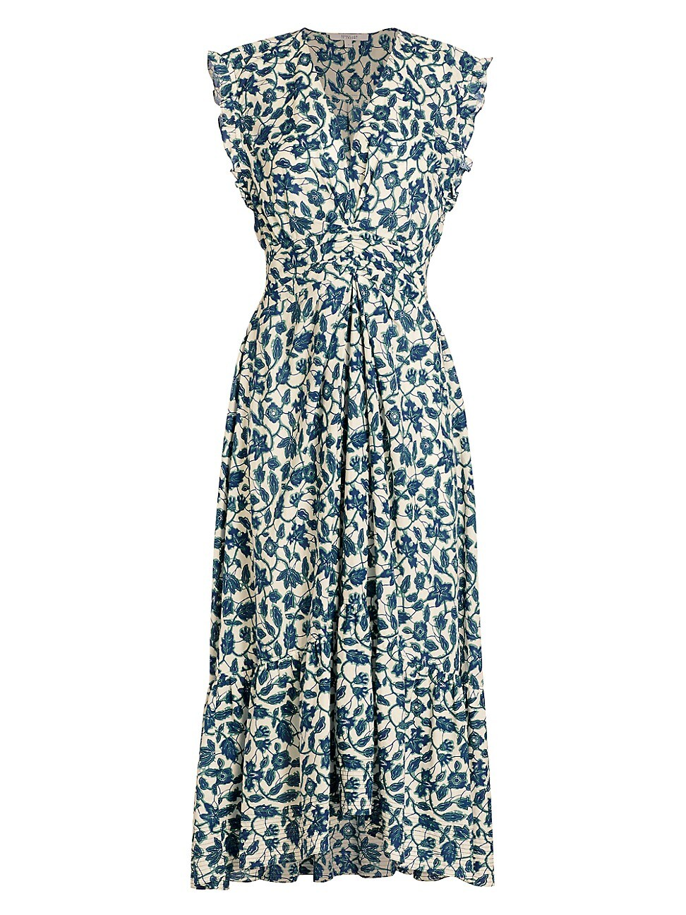 Derek Lam 10 Crosby WOMEN'S KRIS FLORAL SLEEVELESS MAXI DRESS