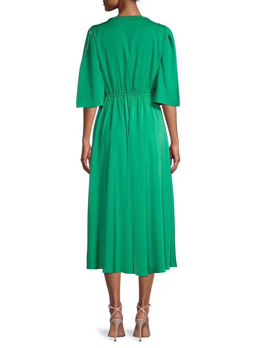 KOBI HALPERIN Linings WOMEN'S TONYA DRAWSTRING A-LINE DRESS