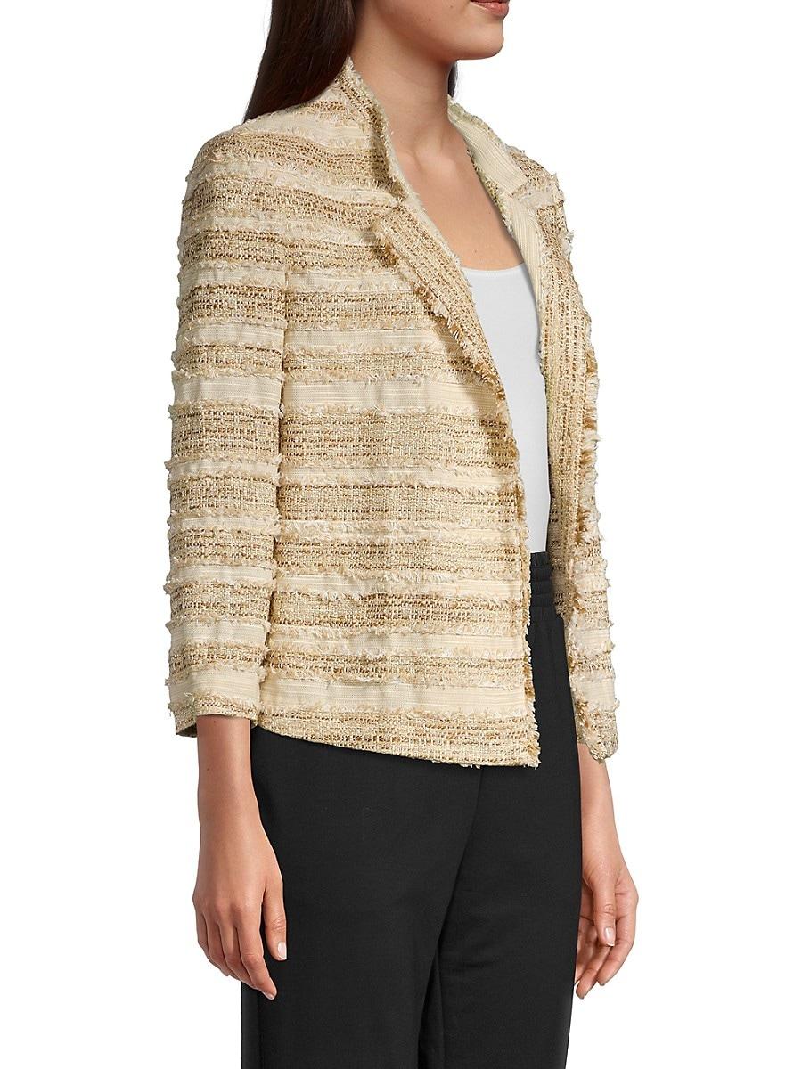 KOBI HALPERIN Jackets WOMEN'S ESTRELLA STRIPE TWEED JACKET