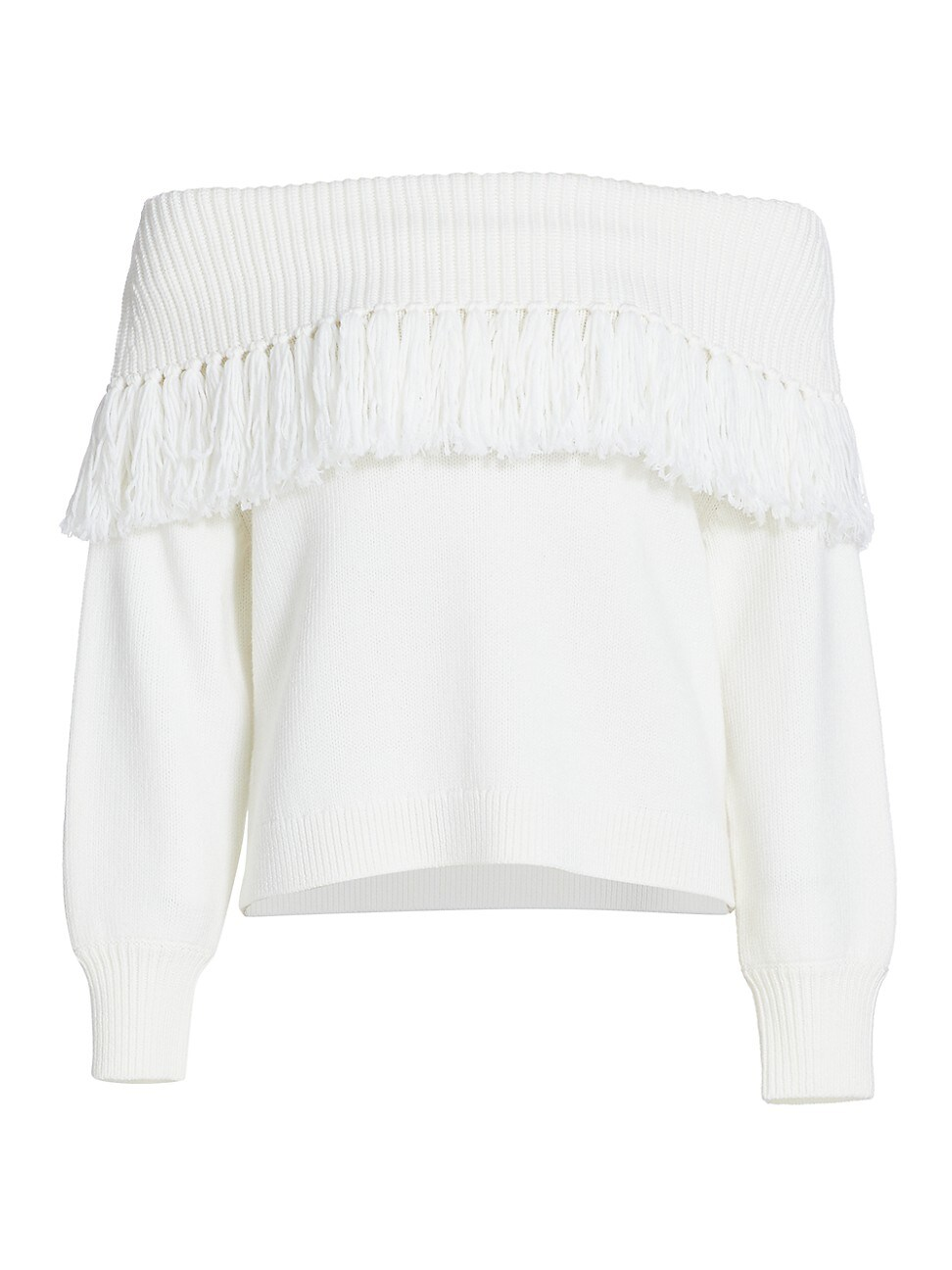 Alice And Olivia WOMEN'S BARDOT FRINGE OFF-THE-SHOULDER TOP
