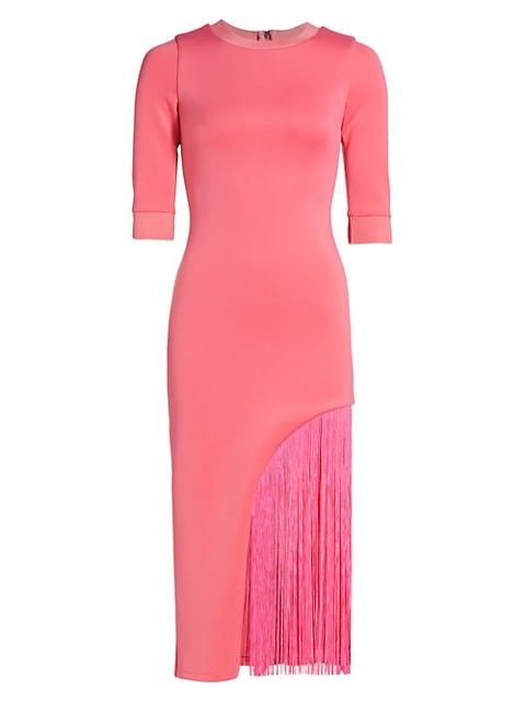 Keanna Asymmetrical Fringe Bodycon Dress