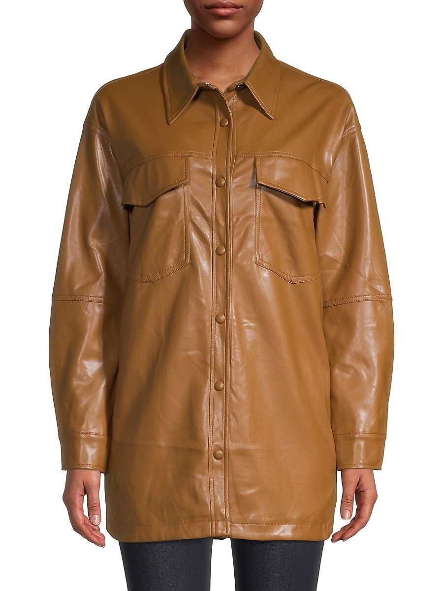 APPARIS Leathers WOMEN'S RILEY LEATHER-LOOK SHIRT