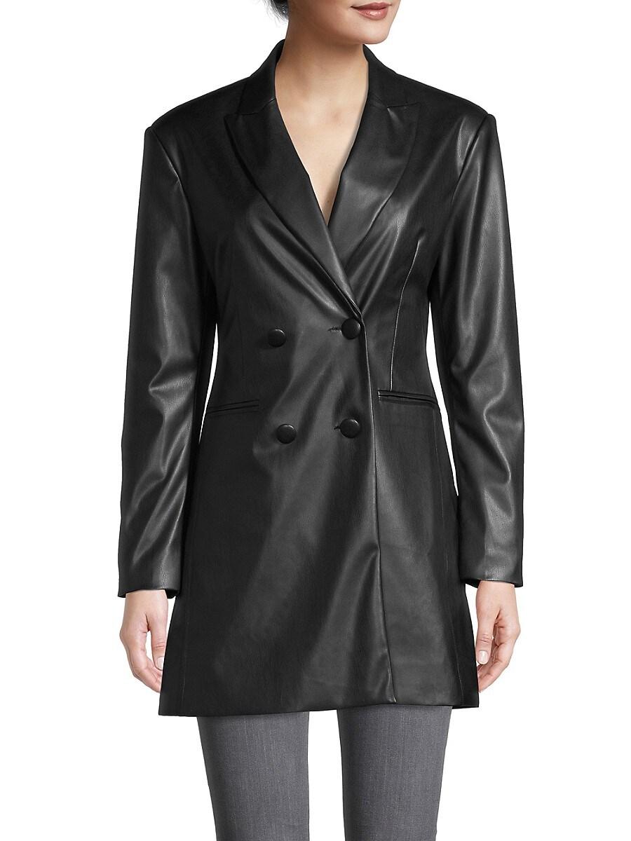 APPARIS Leathers WOMEN'S CIARA LEATHER-LOOK BLAZER DRESS