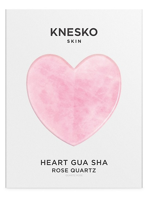 Rose Quartz Heart Gua Sha With Antioxidant Eye Mask