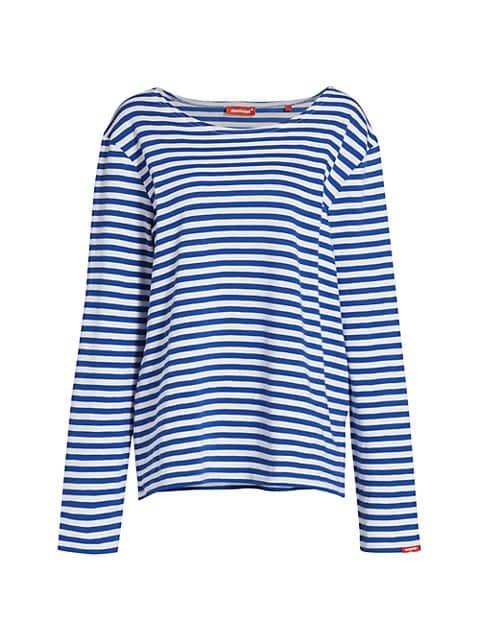 Boatneck Striped T-Shirt