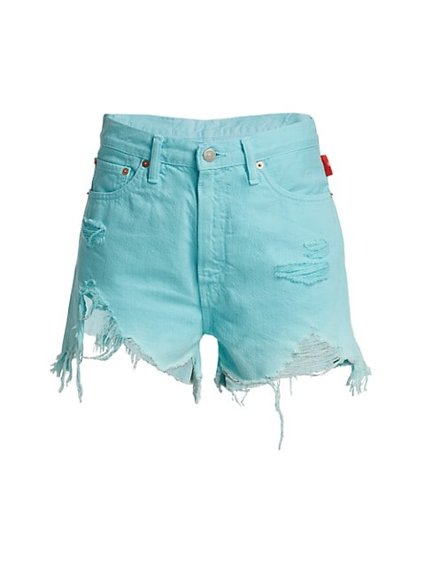 Nic High-Rise Cutoff Denim Shorts