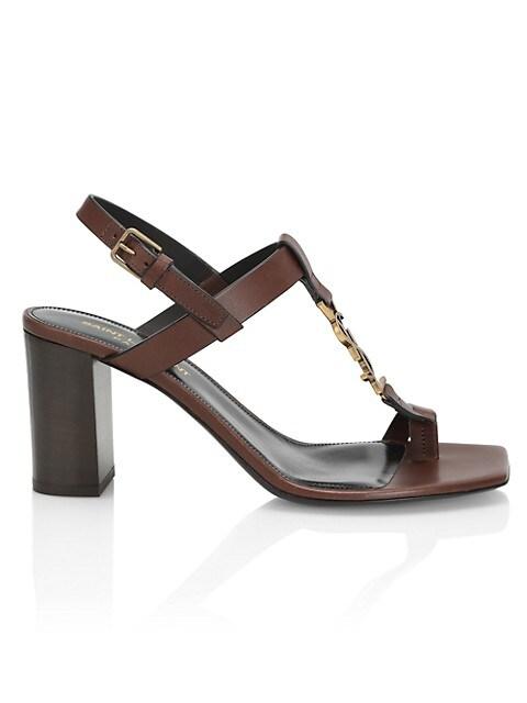 Cassandra Leather Slingback Sandals