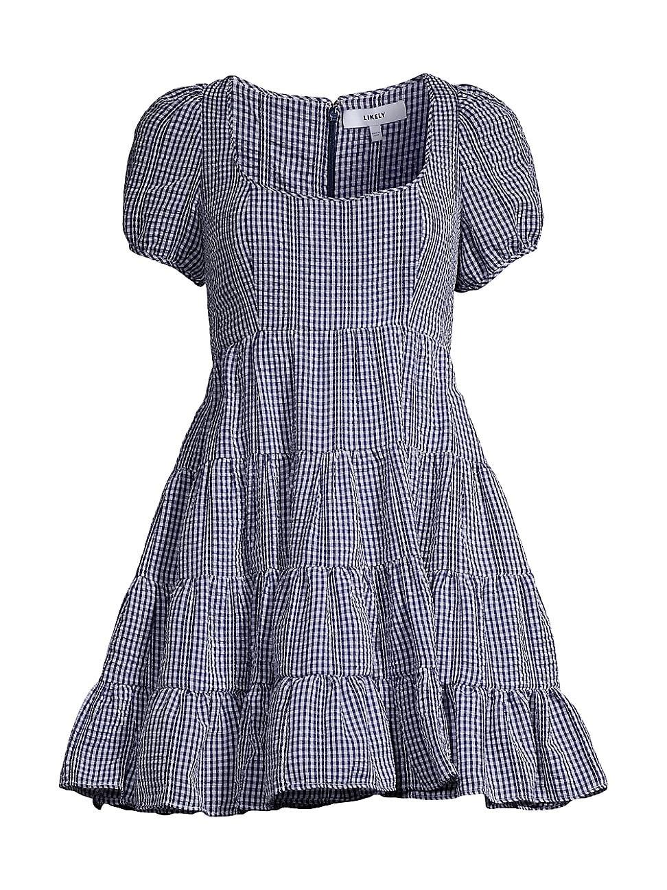 Likely WOMEN'S MINI CHLOE GINGHAM DRESS