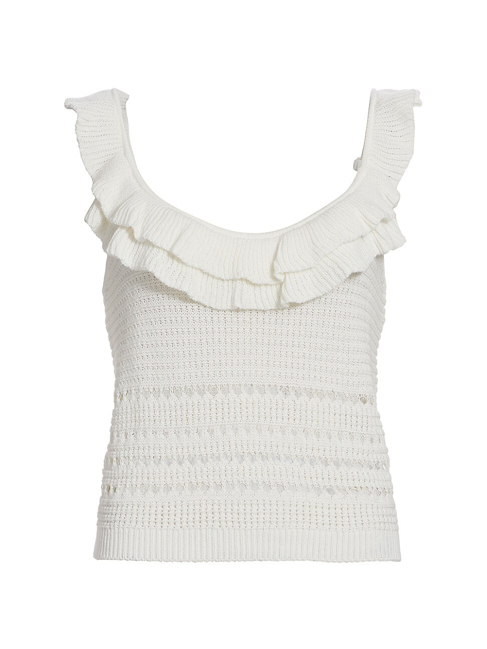 7 For All Mankind WOMEN'S CROCHET RUFFLE CAMISOLE TOP