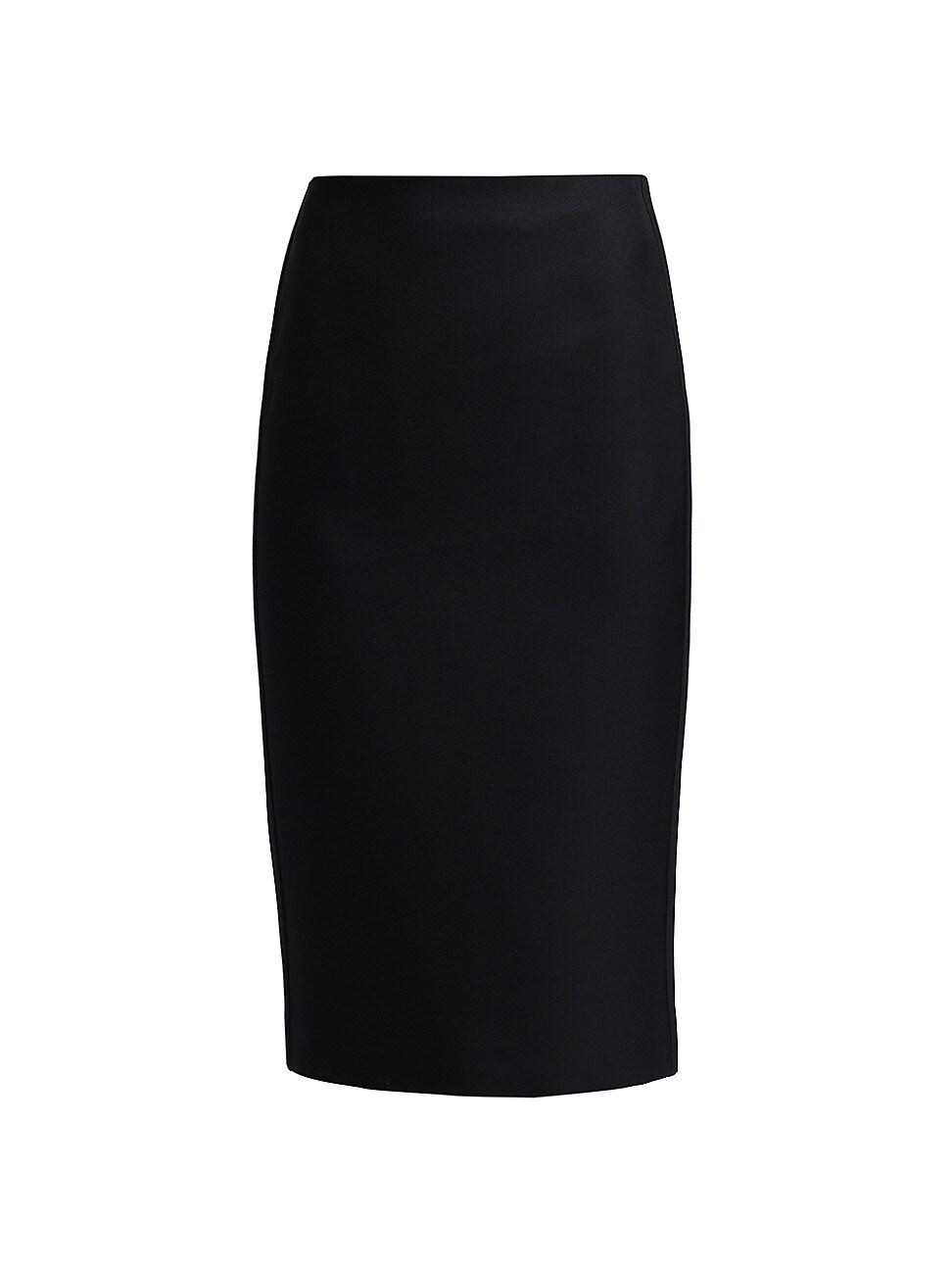 Fendi Clothing WOMEN'S WOOL & SILK PENCIL SKIRT