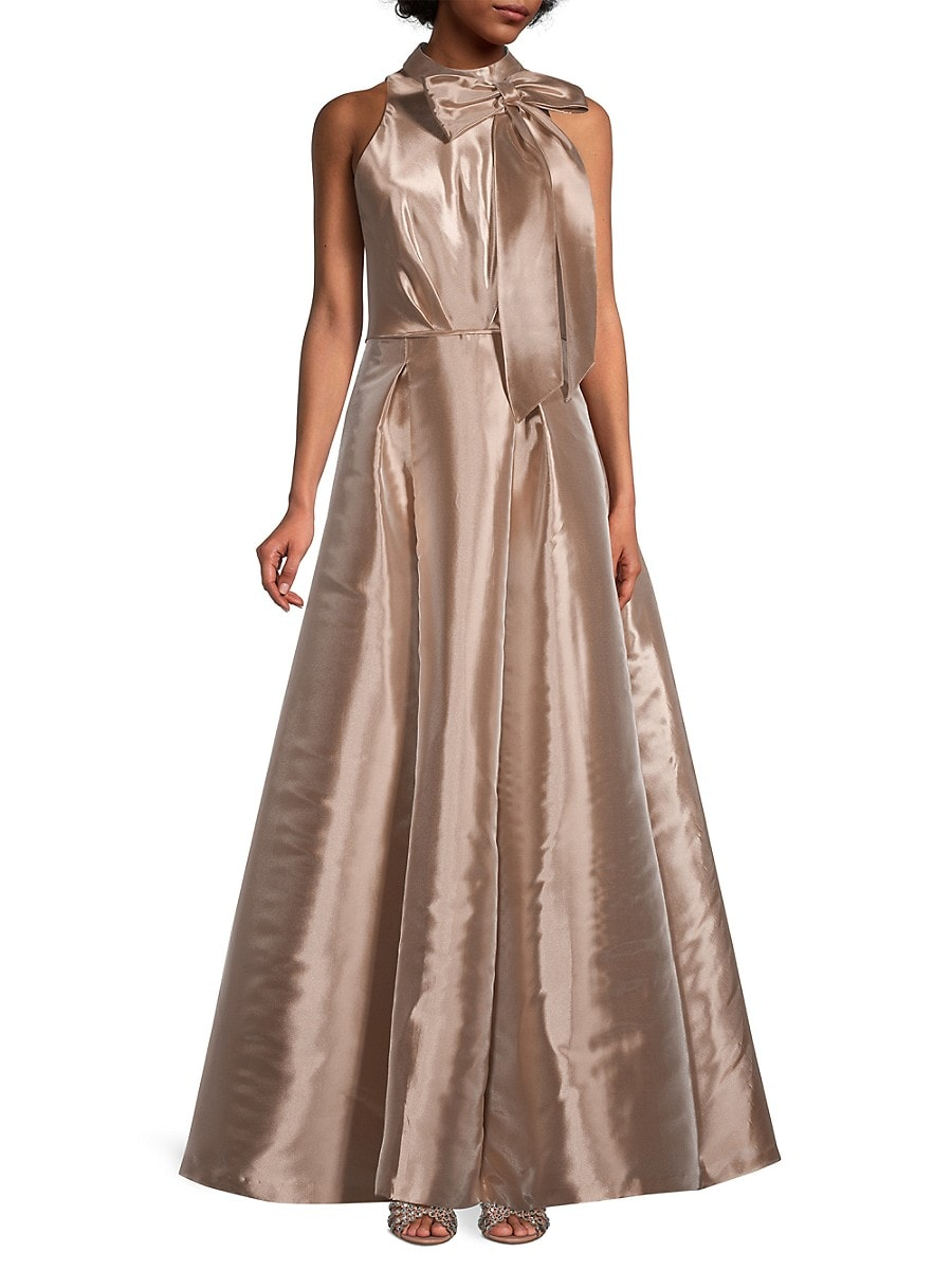 AIDAN MATTOX Gowns WOMEN'S HALTER BALL GOWN