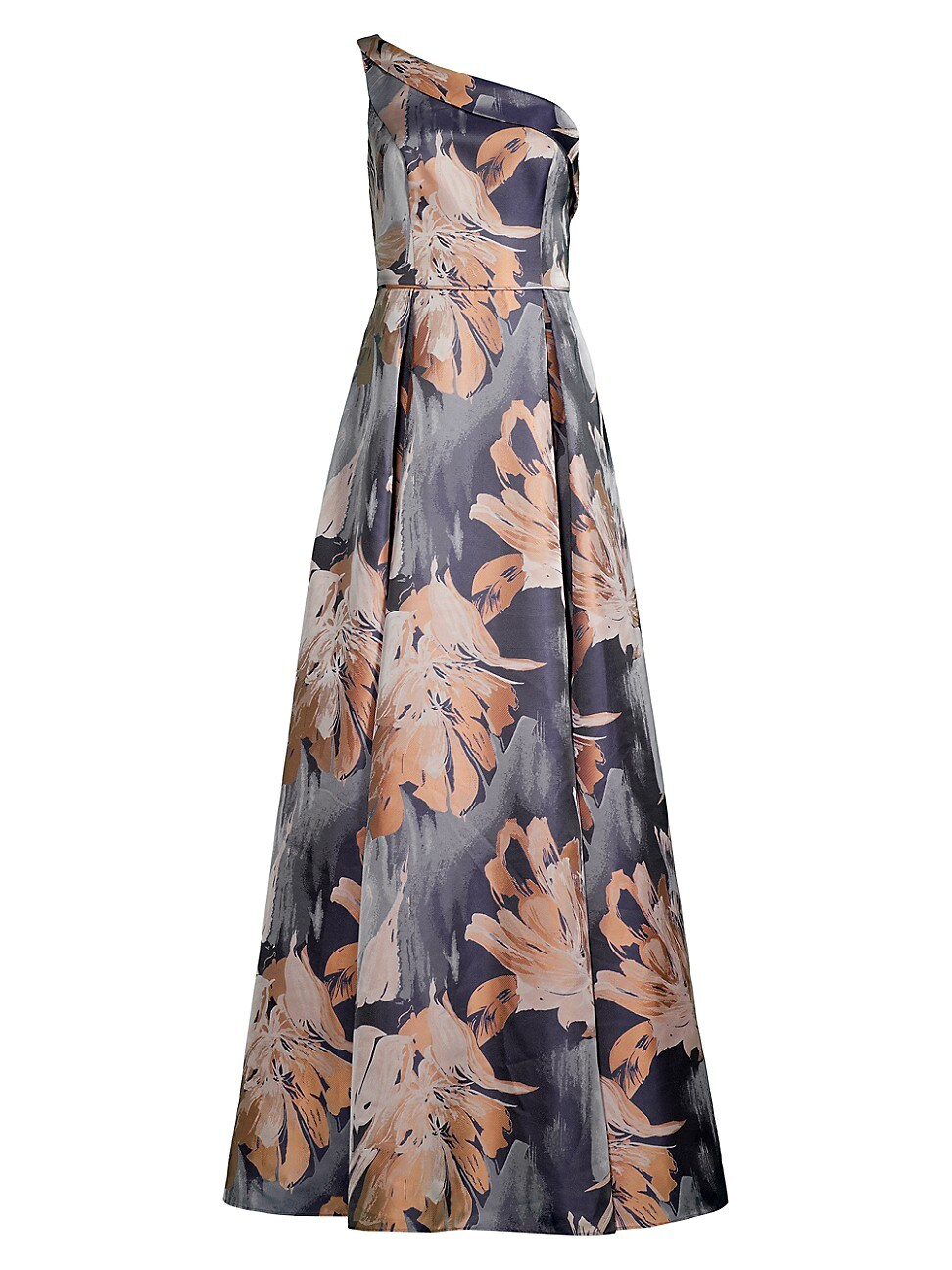 Aidan Mattox WOMEN'S FLORAL ON-SHOULDER GOWN