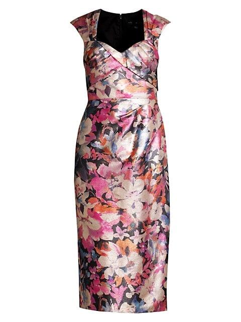 Sweetheart Brocade Sheath Dress
