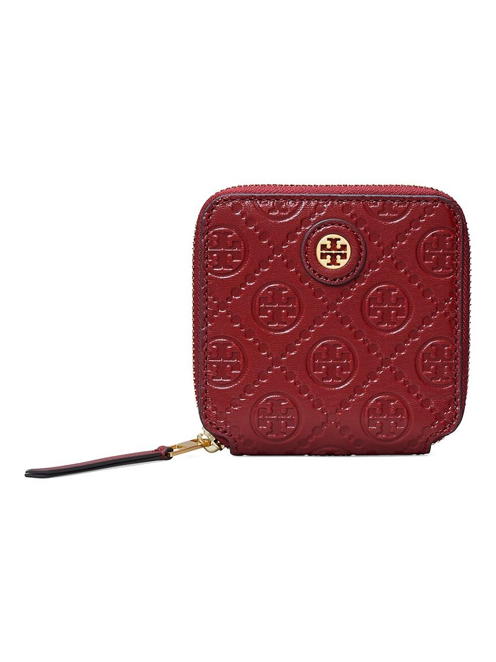 토리버치 지갑 Tory Burch Leather Bi-Fold Wallet,JUNEBERRY