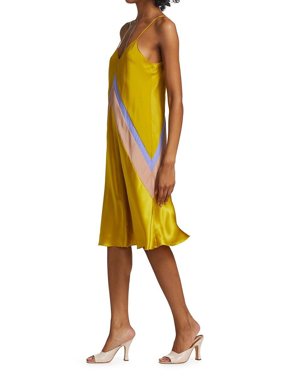 ATM ANTHONY THOMAS MELILLO Silks WOMEN'S BIAS-CUT SILK SLIP DRESS