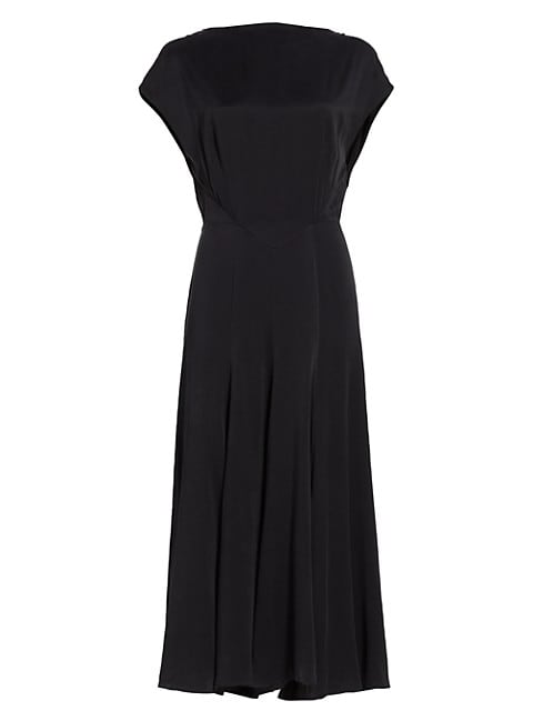 Merloe Silk Midi Dress
