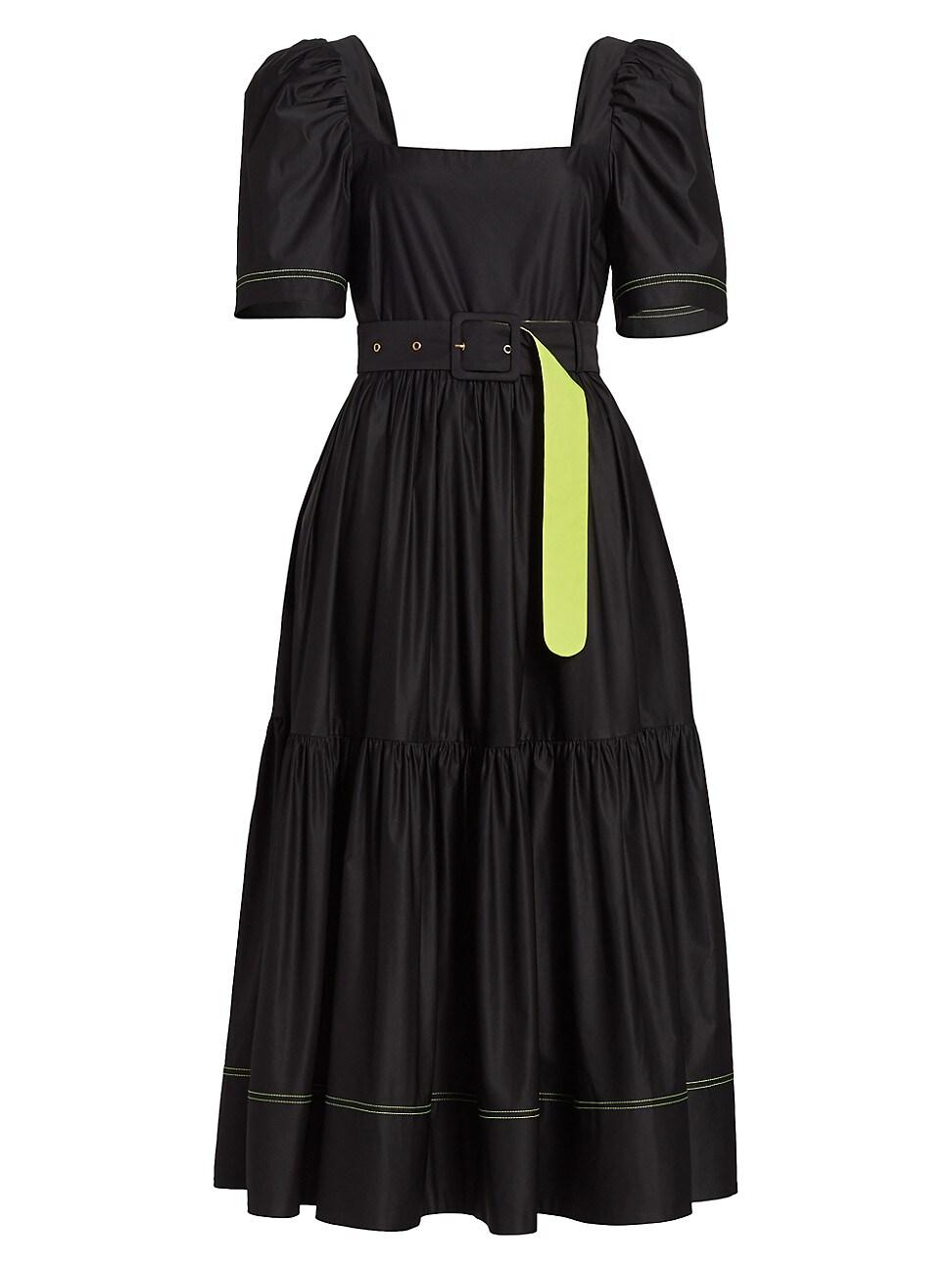 Tanya Taylor WOMEN'S DELILAH SHORT PUFF-SLEEVE DRESS