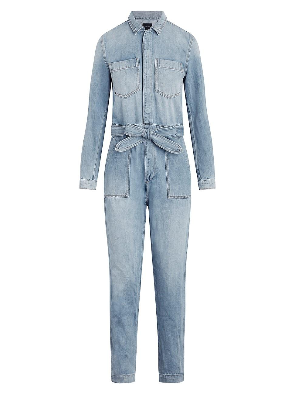 Joe's Jeans Denims WOMEN'S THE ALEXA BELTED DENIM JUMPSUIT
