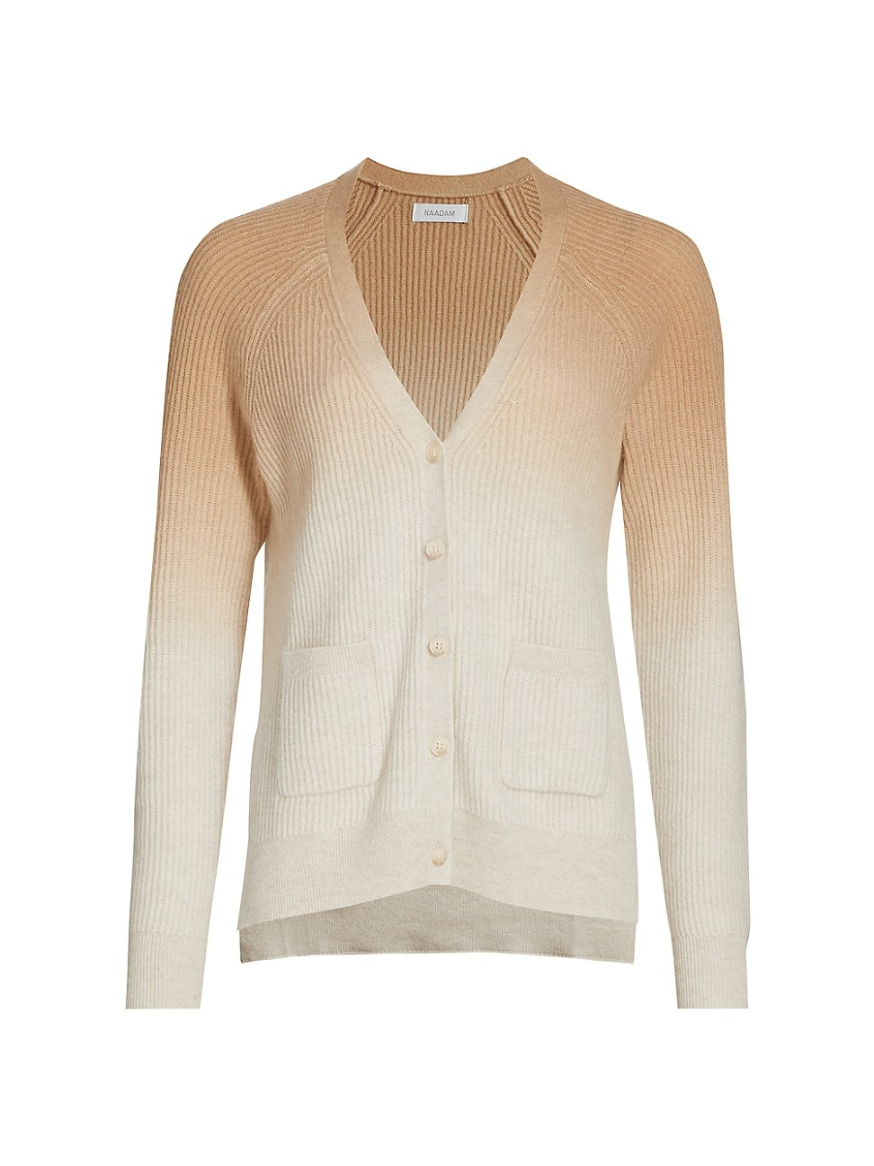 Naadam WOMEN'S OMBRE RIBBED CASHMERE CARDIGAN