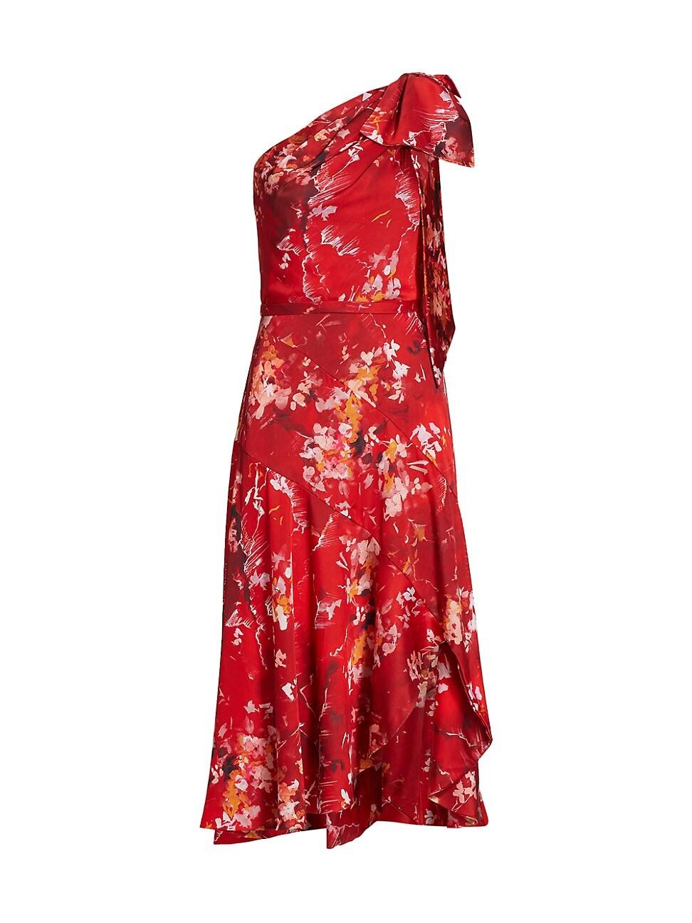 Theia WOMEN'S SARAH SATIN ONE-SHOULDER DRESS
