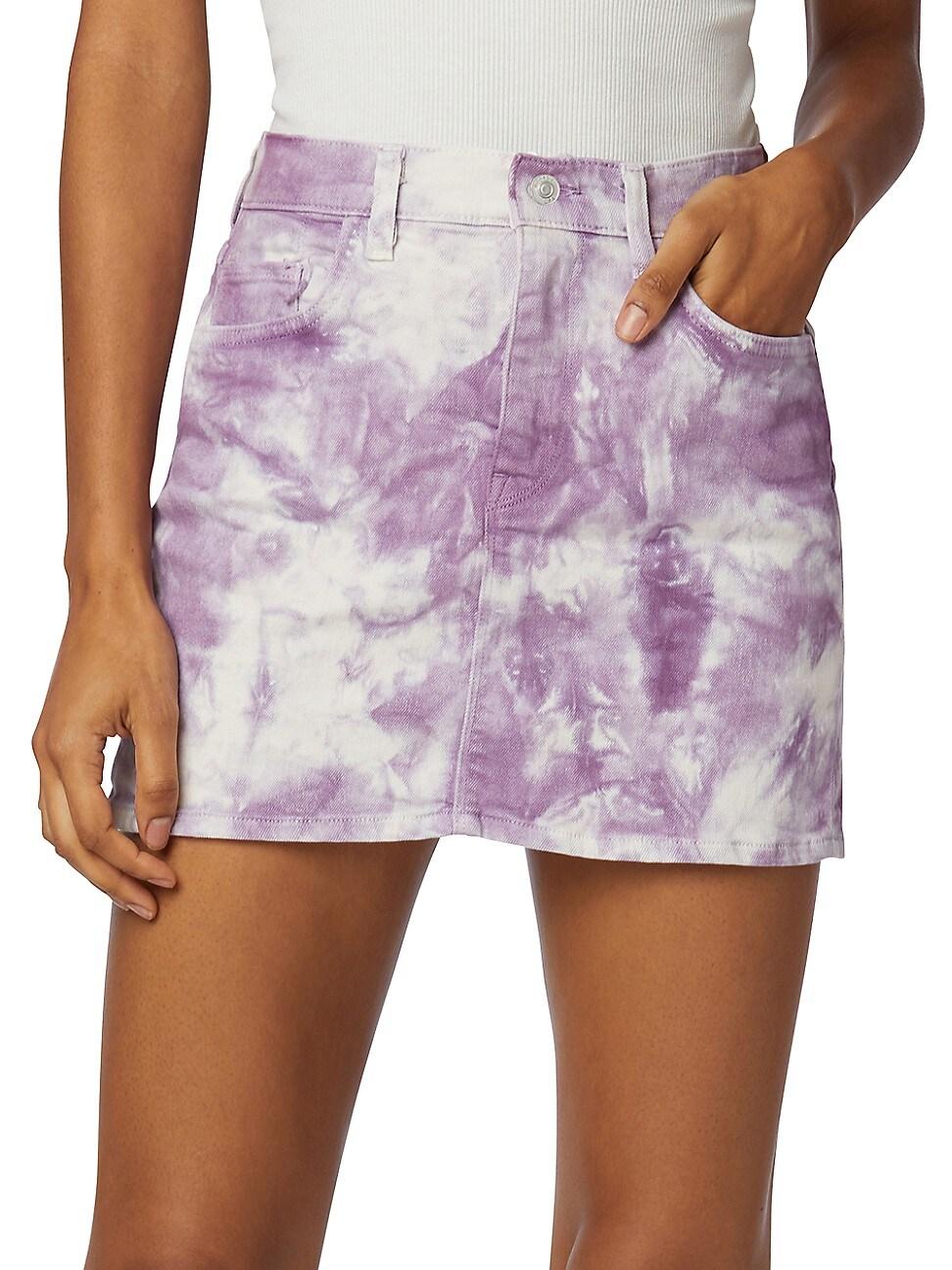 Hudson Mini skirts WOMEN'S THE VIPER TIE-DYE MINI SKIRT