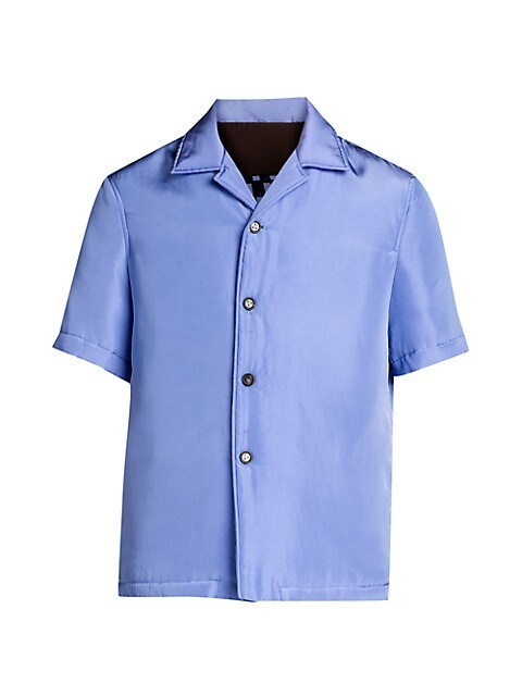 Graphic-Print Back Short-Sleeve Shirt