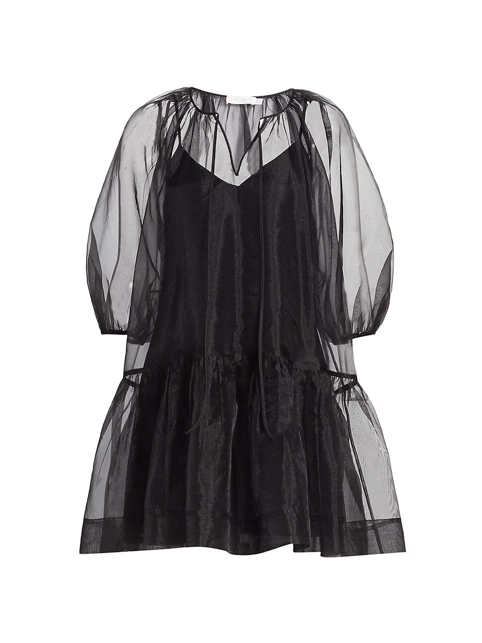 Jonathan Simkhai Mini dresses WOMEN'S EVERLEE ORGANZA PUFF-SLEEVE MINI DRESS