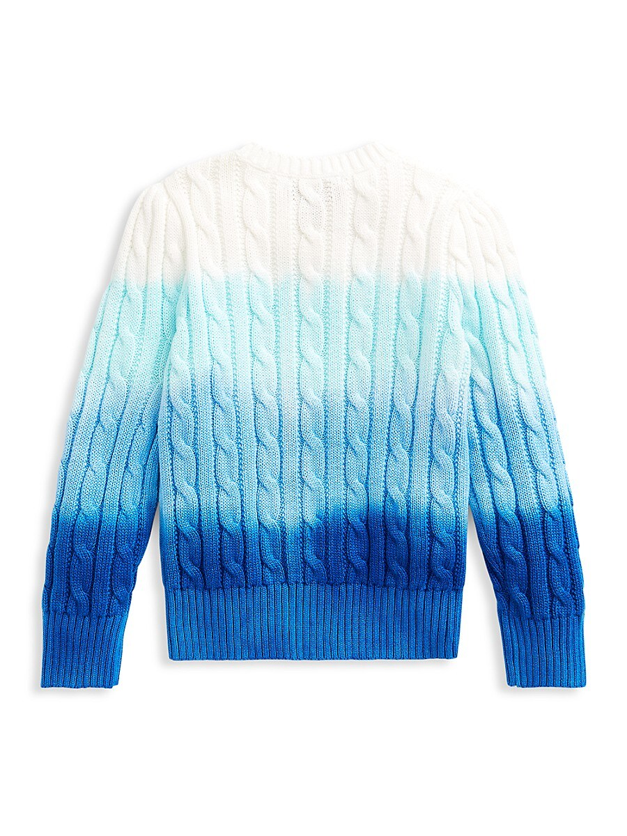 RALPH LAUREN Knits LITTLE GIRL'S AND GIRL'S OMBRÉ CABLE-KNIT SWEATER