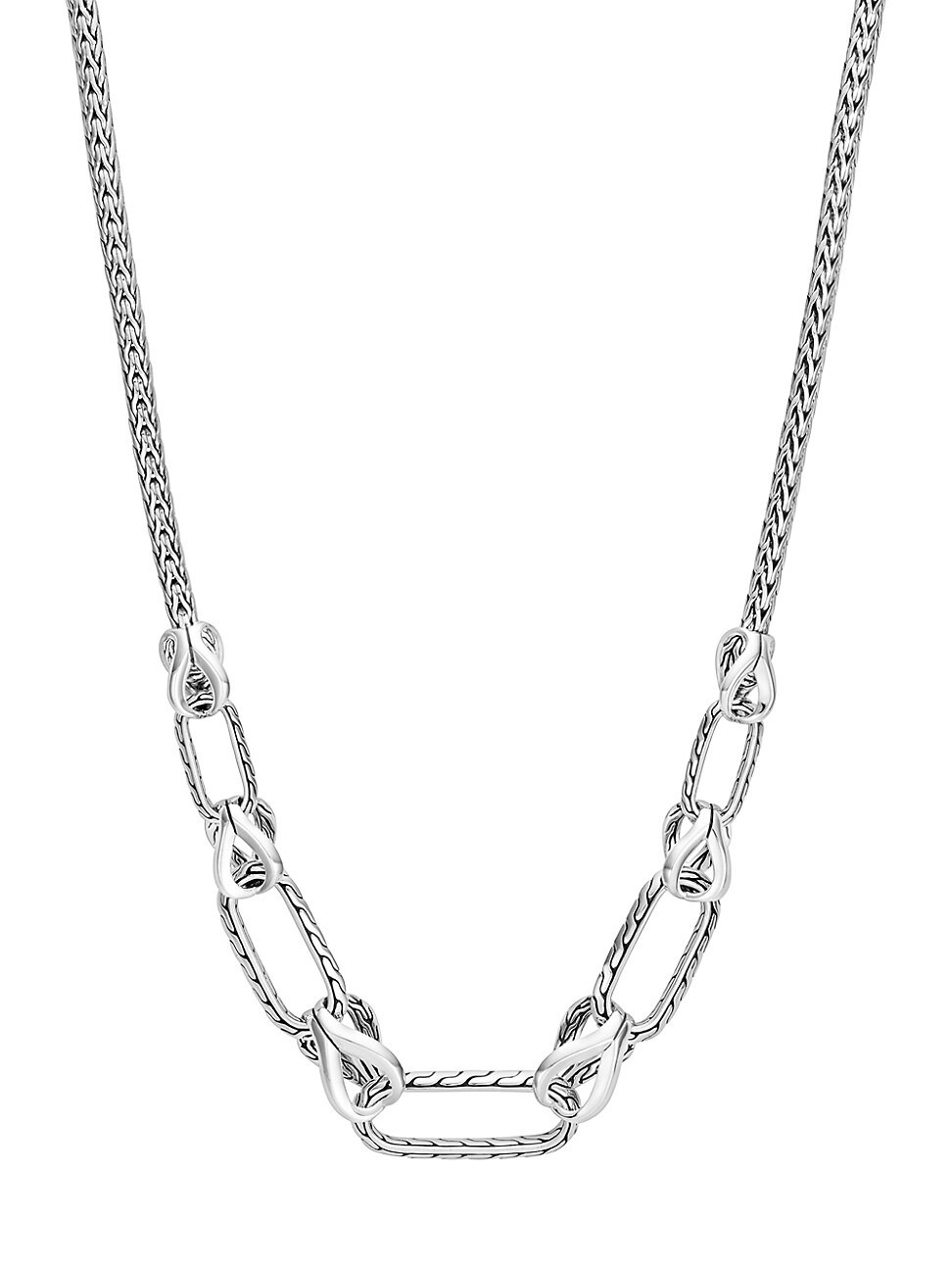 John Hardy WOMEN'S CLASSIC CHAIN STERLING SILVER MIXED-LINK CHAIN NECKLACE