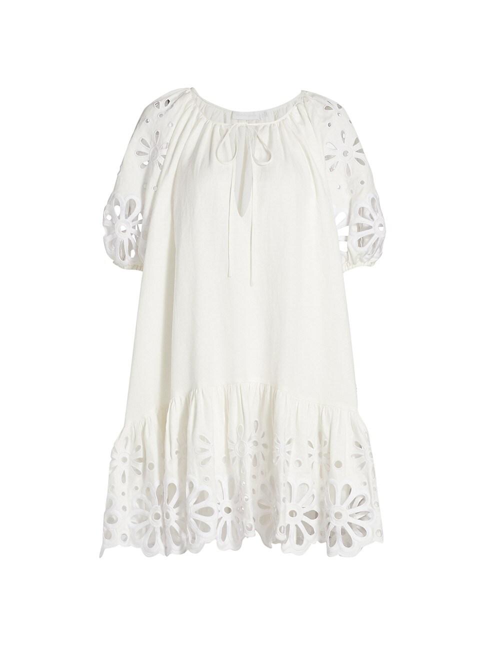 Jonathan Simkhai WOMEN'S EVANGELINA BRODERIE ANGLAISE DRESS