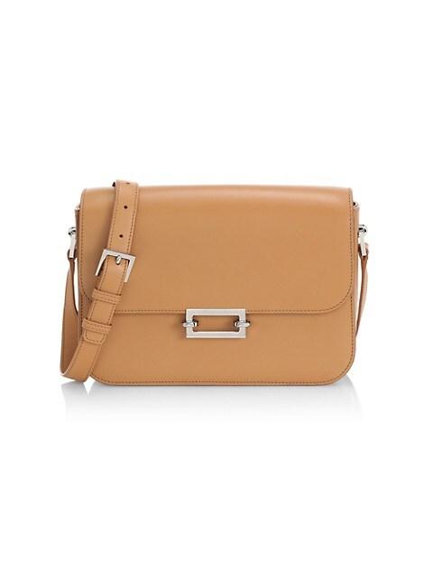 Fermoir Leather Shoulder Bag