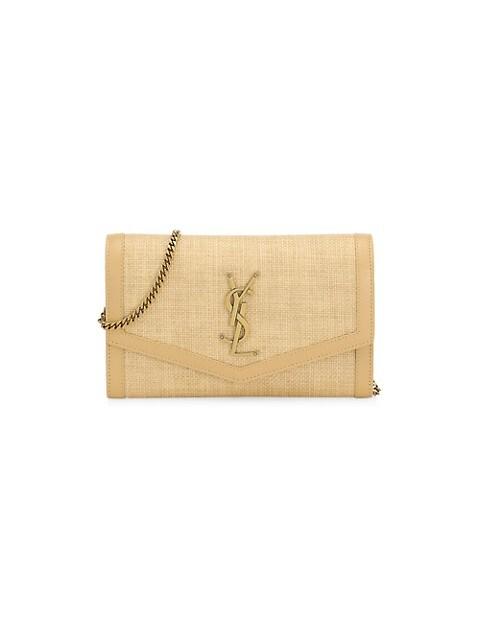 Cassandra Raffia Crossbody Bag