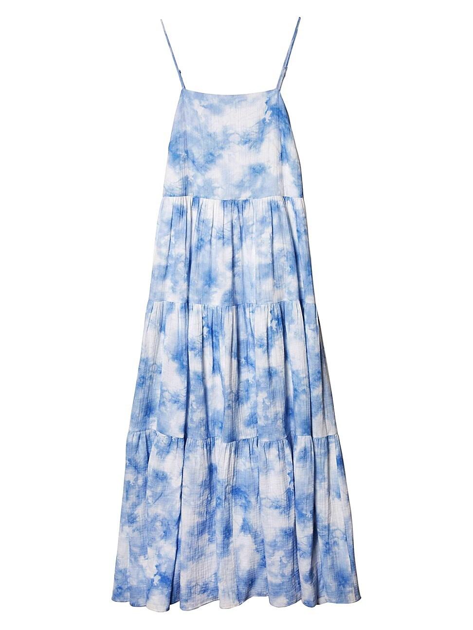 Jonathan Simkhai WOMEN'S CLARISSA TIE-DYE TIERED DRESS