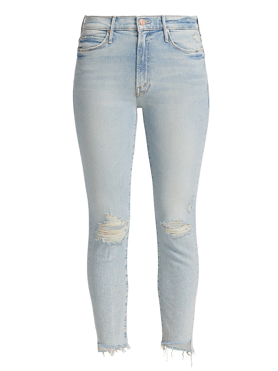 Mother WOMEN'S THE STUNNER ZIP ANKLE STEP FRAY JEANS