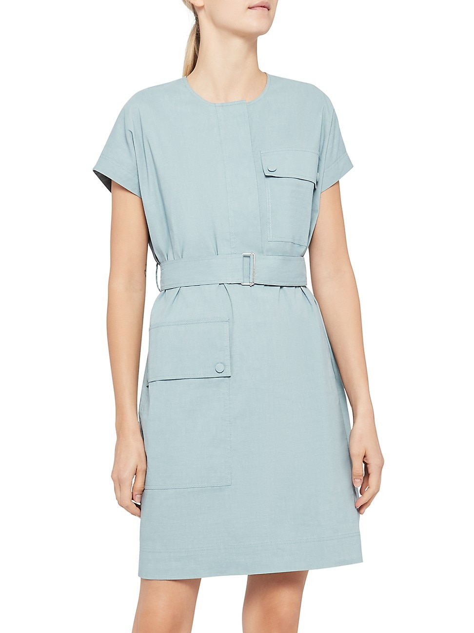 Theory WOMEN'S SHORT SLEEVE UTILITY DRESS