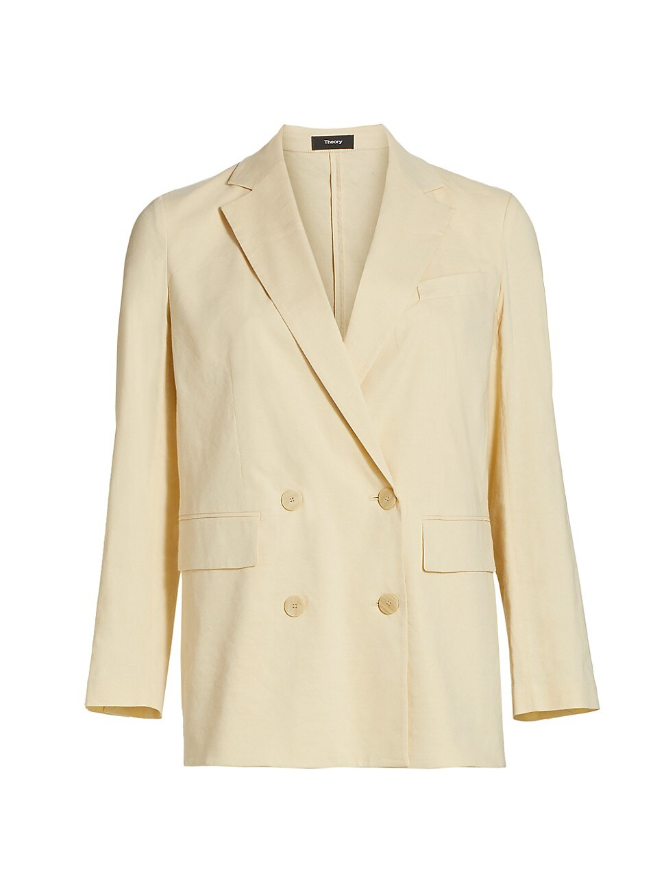 Theory Jackets WOMEN'S PIAZZA DOUBLE-BREASTED LINEN-BLEND JACKET