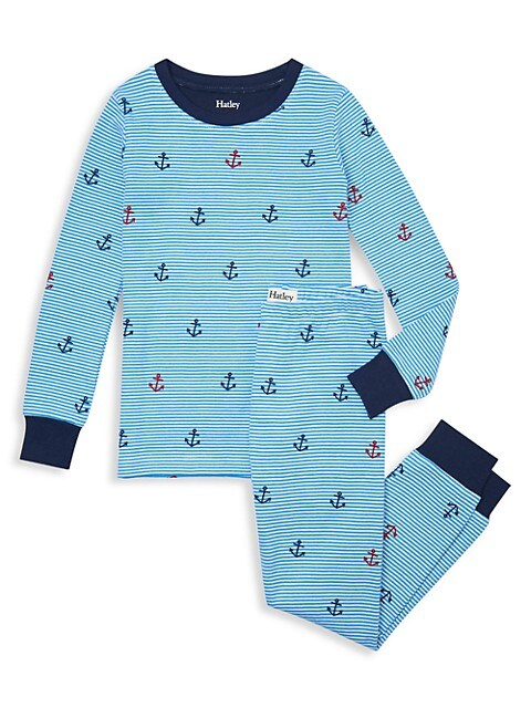 Little Boy's & Boy's Anchors Away 2-Piece Pajama Set