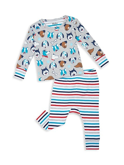 Baby Boy's Cute Pups Organic Cotton Pajama Set