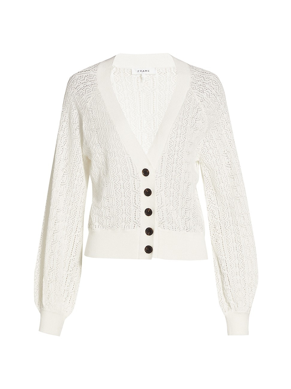 Frame WOMEN'S CHAIN LACE CARDIGAN