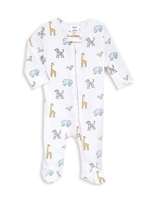 Baby's Jungle Jammin Animal-Print Long-Sleeve Footie
