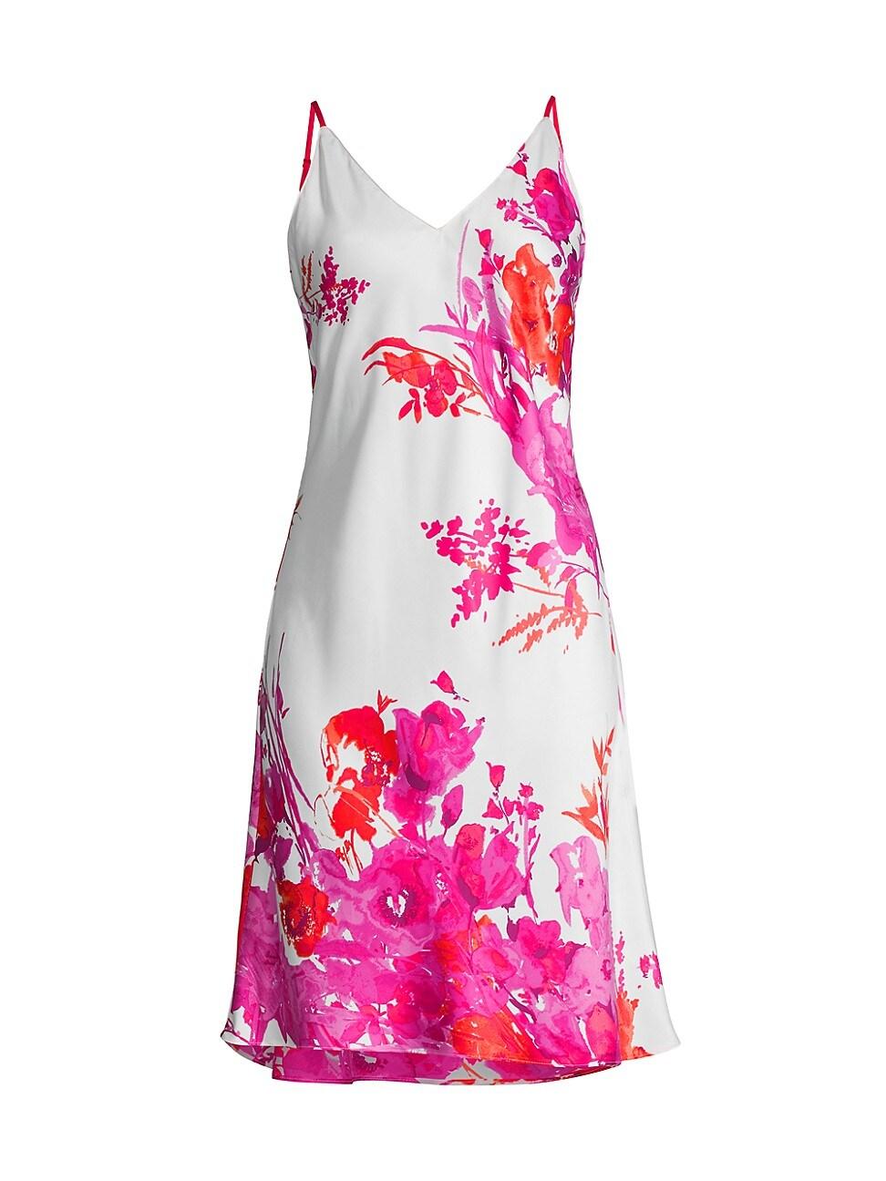 Natori WOMEN'S BLOOM V-NECK SLIP DRESS