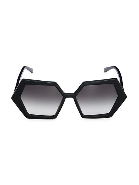 Hexagon 55MM Sunglasses