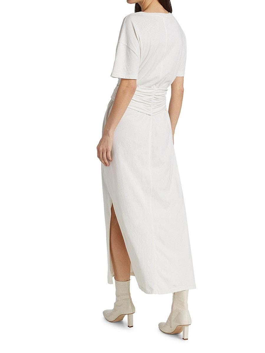 JONATHAN SIMKHAI STANDARD Midi dresses WOMEN'S SARA COTTON JERSEY T-SHIRT DRESS