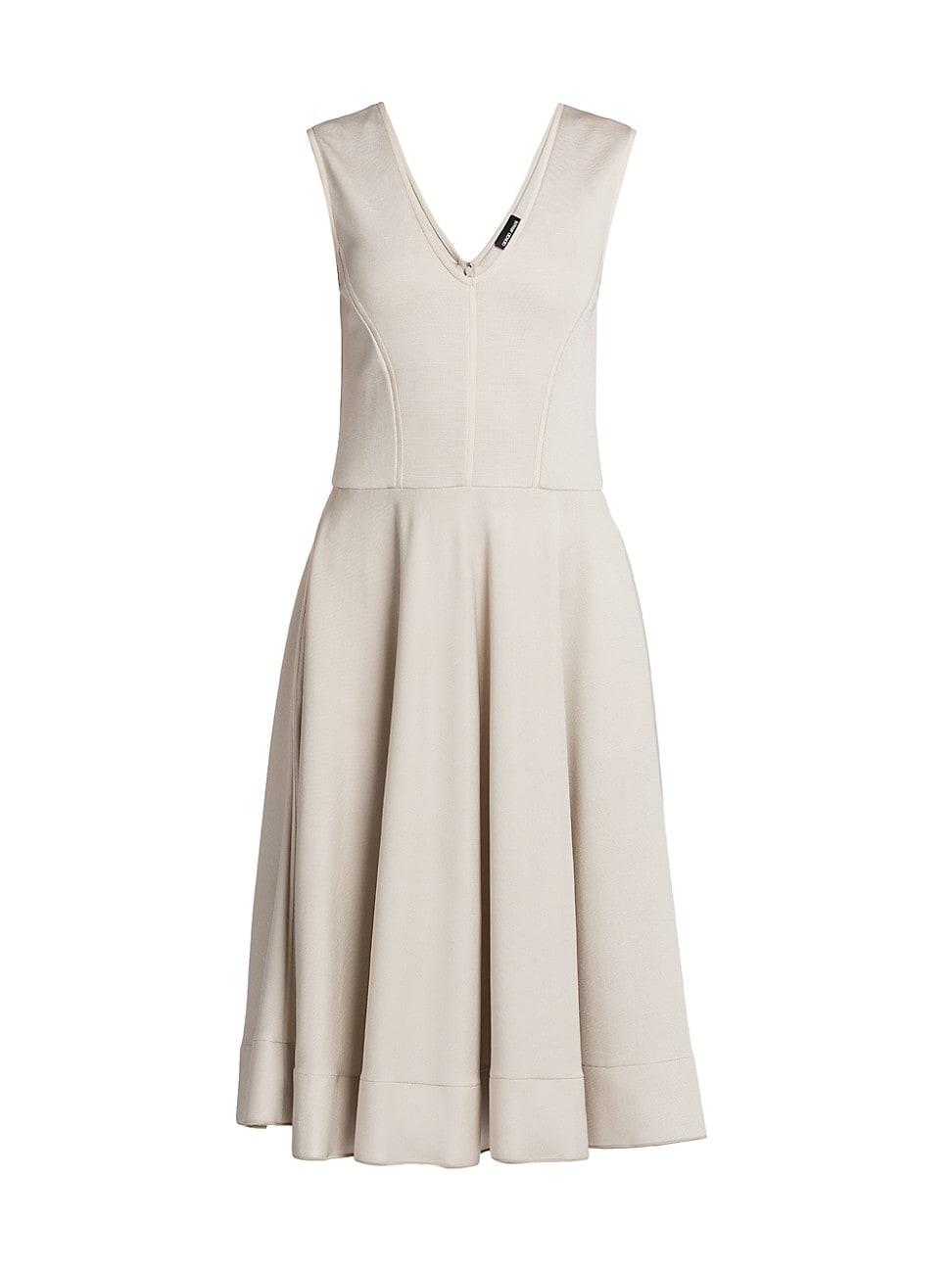 Giorgio Armani WOMEN'S SLEEVELESS OTTOMAN JERSEY DRESS