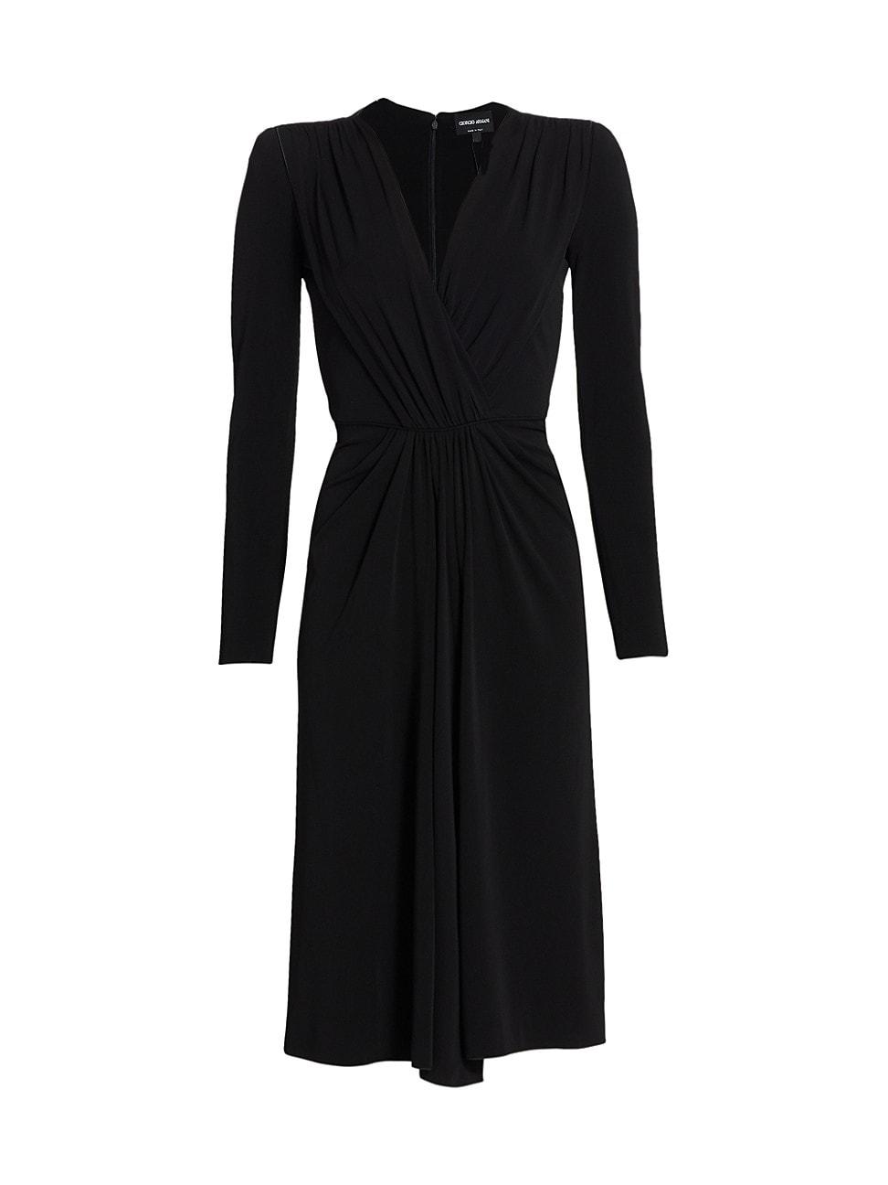 Giorgio Armani Dresses WOMEN'S JERSEY DRAPED COCKTAIL DRESS