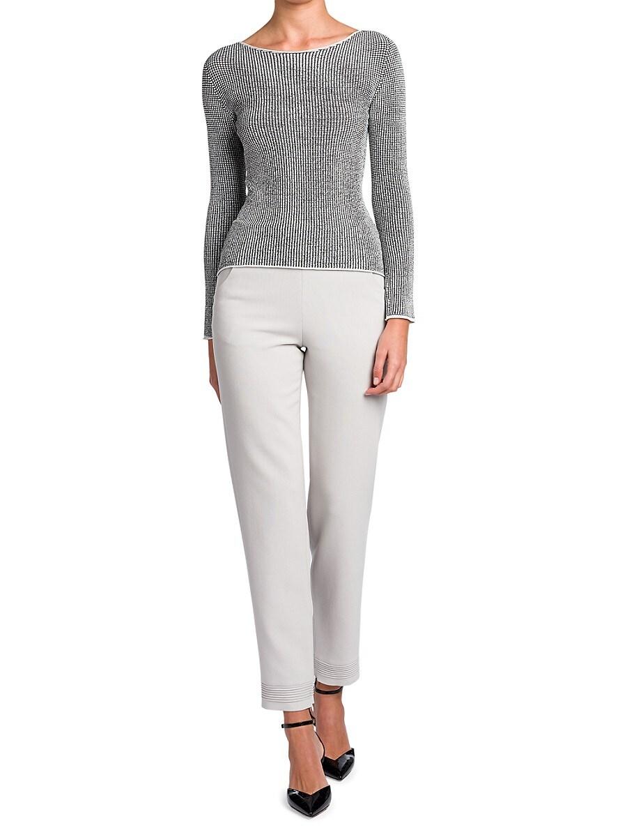 GIORGIO ARMANI Sweaters WOMEN'S WAFFLE STITCH SWEATER